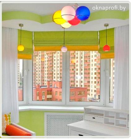 Дизайн окна в детскую